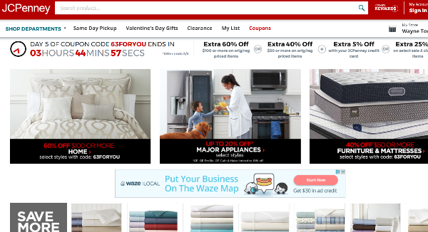 JCPenney Homepage Image