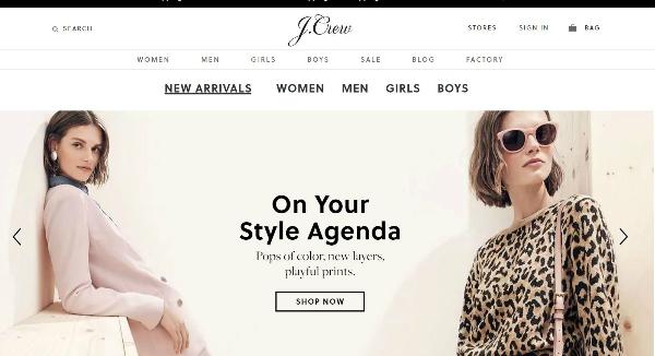 J.Crew Homepage Image