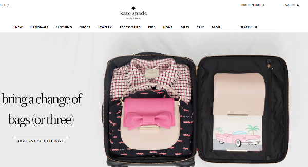 Kate Spade Homepage Image