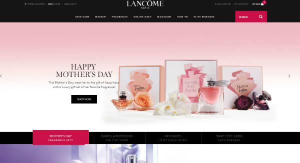 Lancome Homepage Image