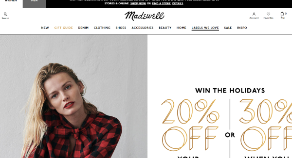 Madewell Coupons Cashback Discount Codes