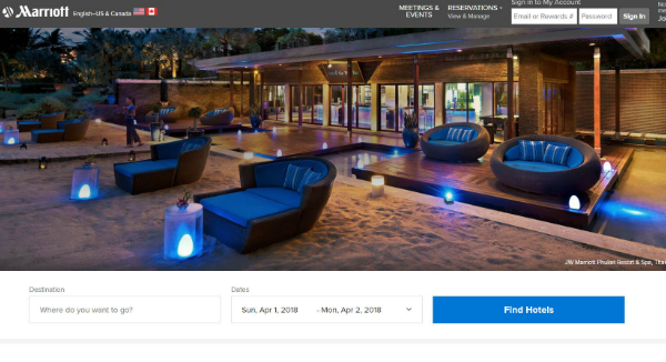 Marriott Homepage Image
