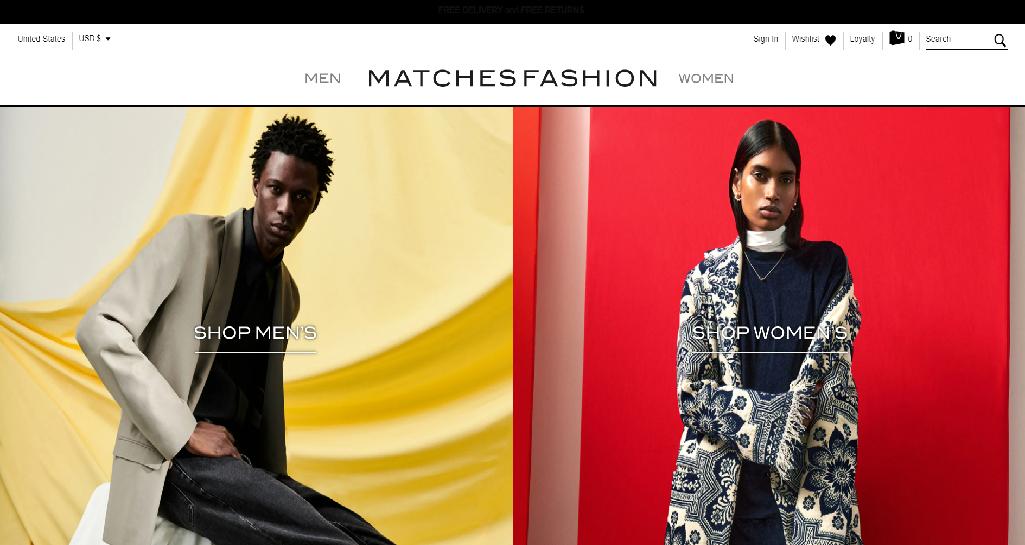 MATCHESFASHION Homepage