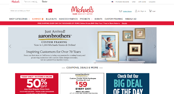 Michaels Coupons Cashback Discount Codes Topcashback