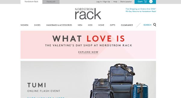 Nordstrom Rack Homepage Image