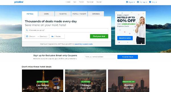 Priceline Homepage Image