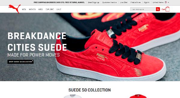 PUMA Homepage Image