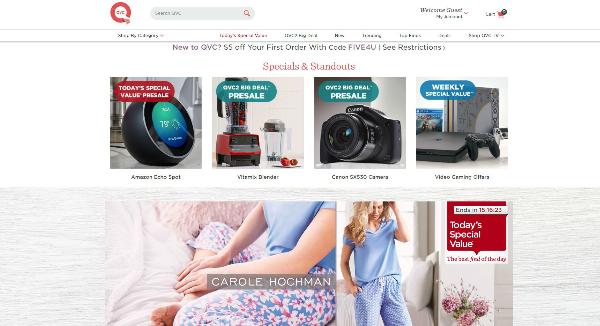 QVC Homepage Image