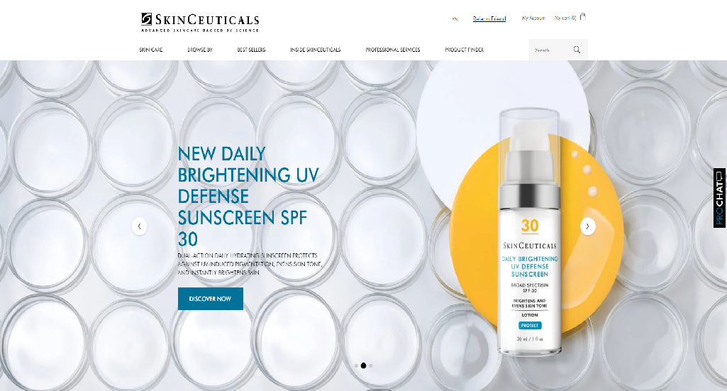 SkinCeuticals Homepage