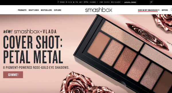 Smashbox Homepage Image