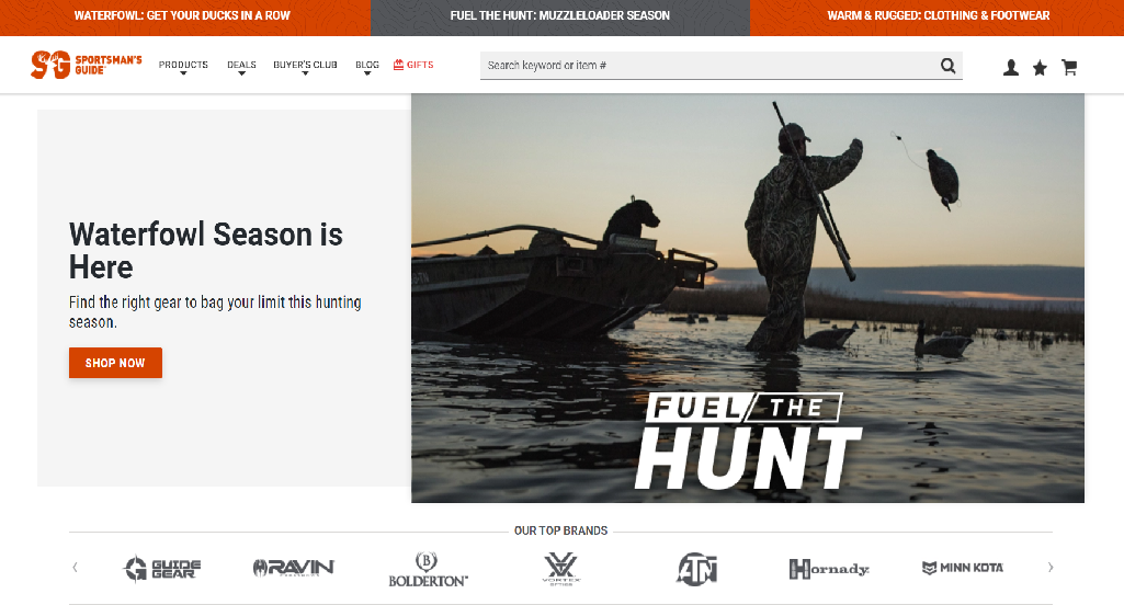 Sportsman's Guide Homepage Image