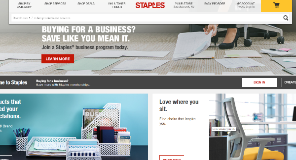 Staples Homepage Image