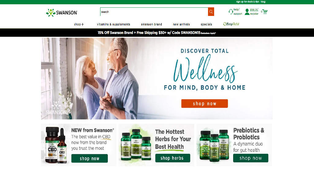 Swanson Homepage Image