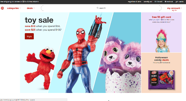 Target Homepage Image