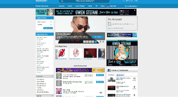 Ticketmaster Homepage Image
