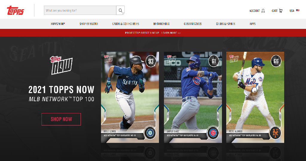 Topps Homepage