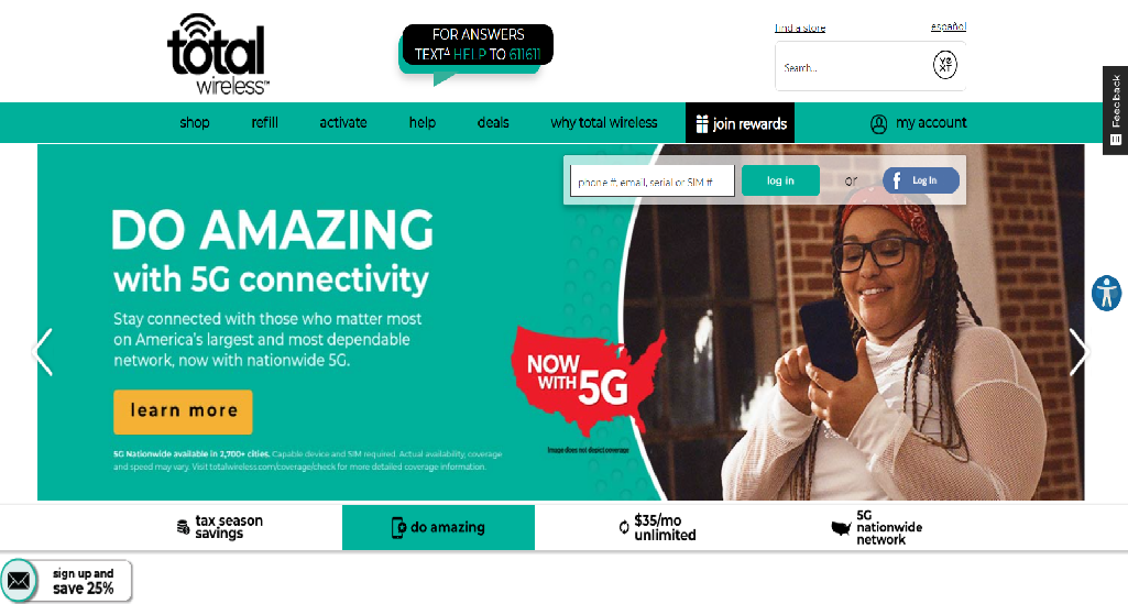 Total Wireless Homepage