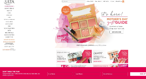 ULTA Beauty Homepage Image