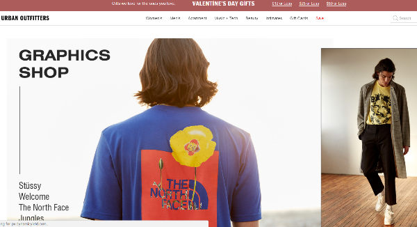 Urban Outfitters Homepage Image