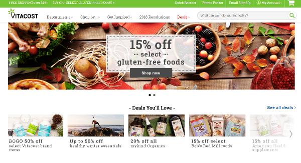 Vitacost Homepage Image