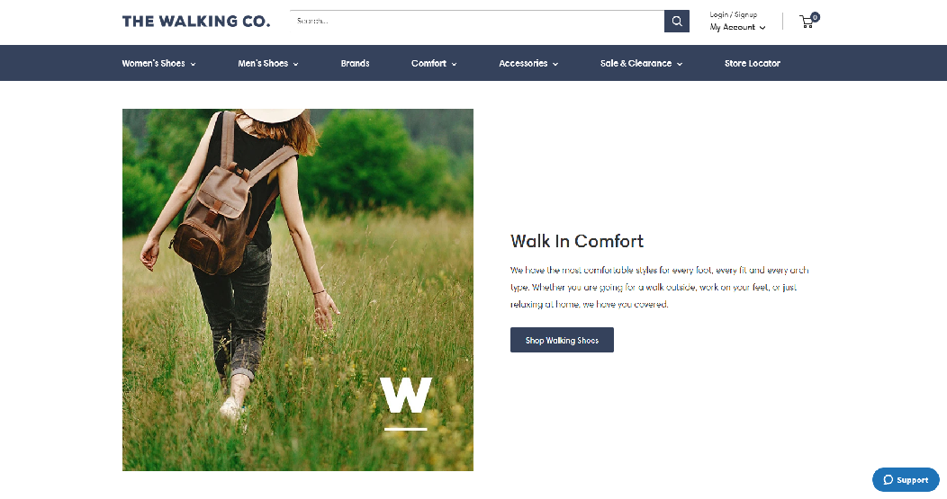 The Walking Company Homepage Image