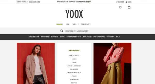 YOOX  Homepage Image