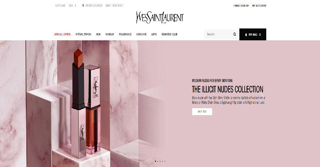YSL Beauty Homepage Image