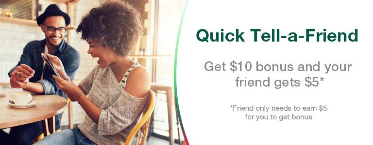 Quickest Tell-a-Friend Bonus yet
